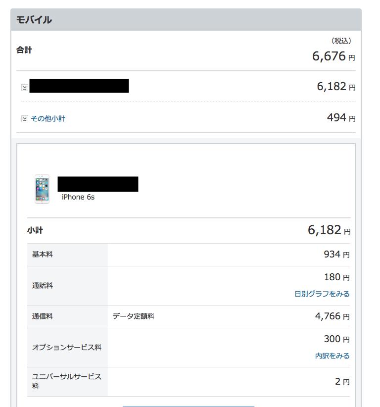 ソフトバンク月々支払
